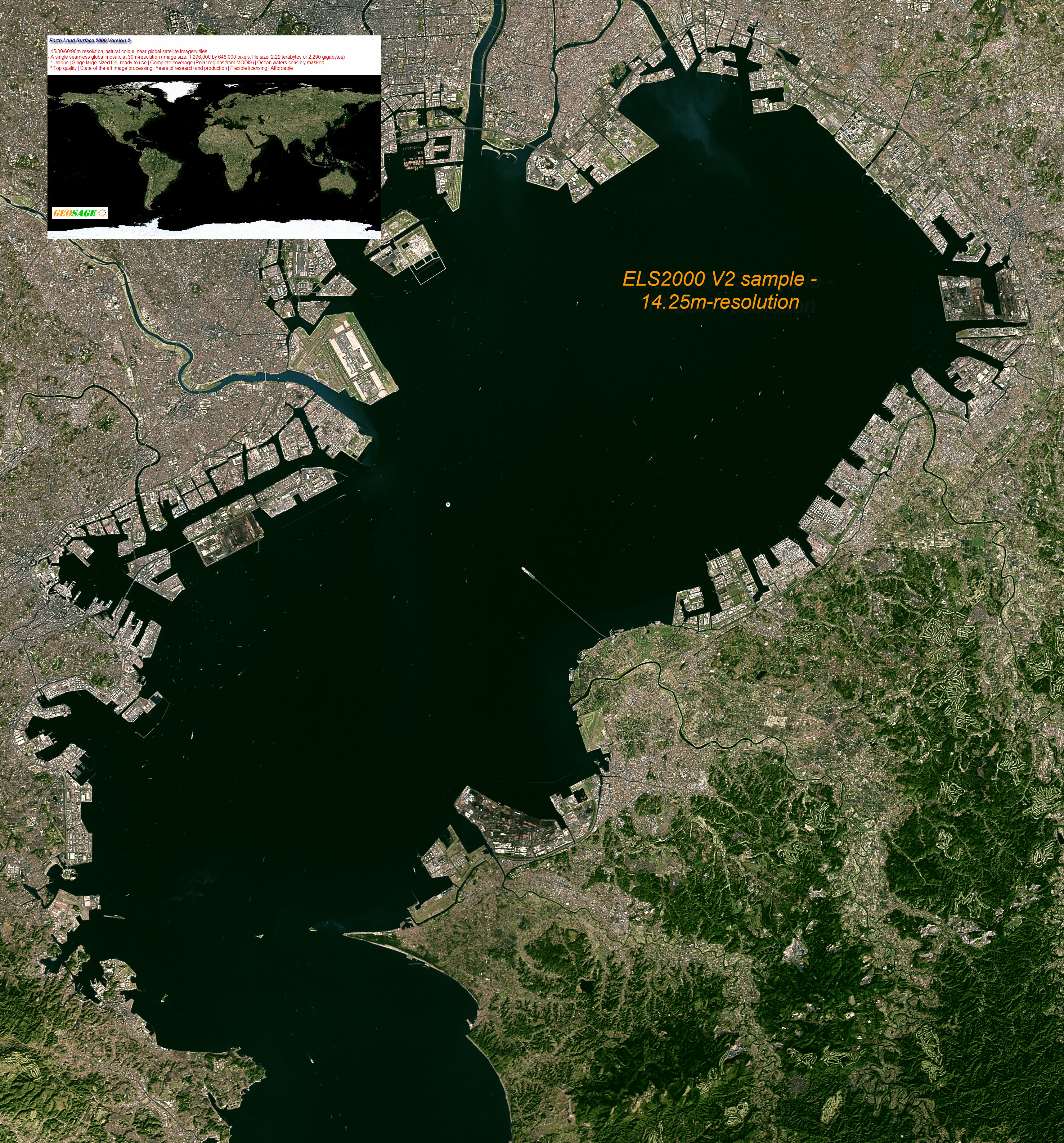 Unique global satellite imagery mosaics at 1425m 15m 30m resolutions regional sample 1 tokyo bay gumiabroncs Choice Image